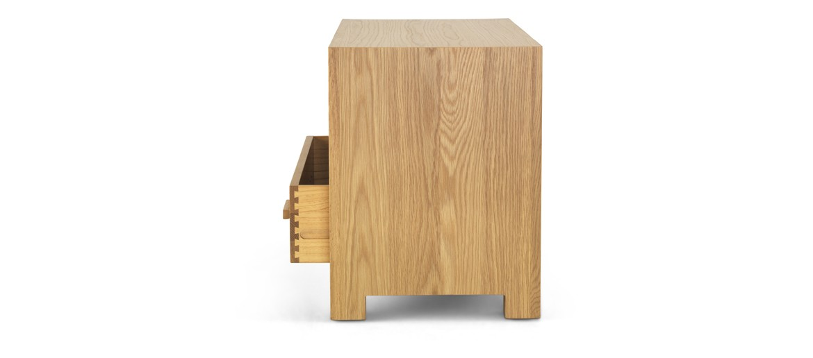 Cube Oak Small TV Unit