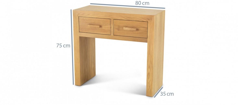 Cube Oak Petite Console Table