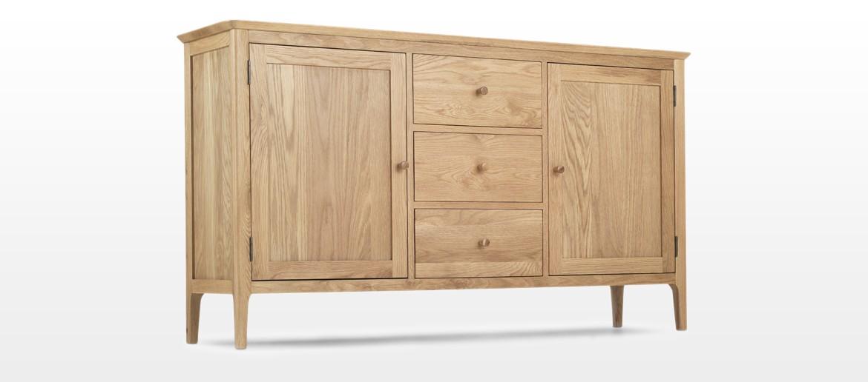 Hayman Oak Large Sideboard 2 Door/ 3 Drawers
