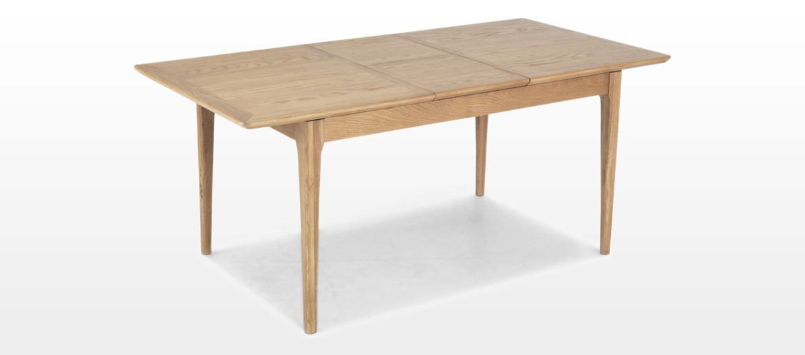 Hayman Oak 120/160cm Extended Dining Table and 4 Chairs