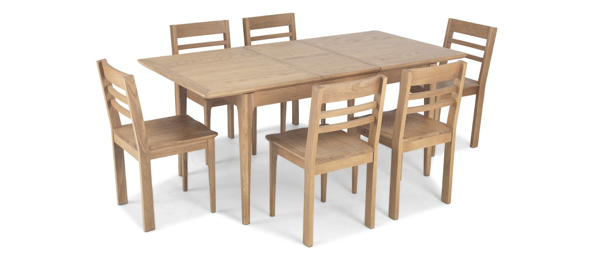 Hayman Oak 140/180cm Extended Dining Table