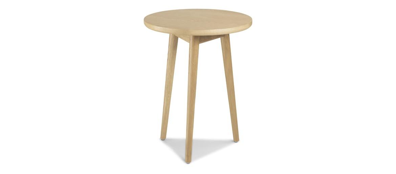 Skiena Oak Circular Lamp Table