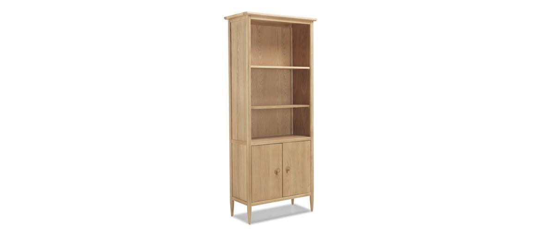 Skiena Oak Large Bookcase With  Doors