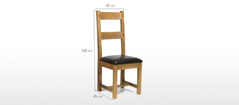 Barham Oak Dining Chairs - Pair