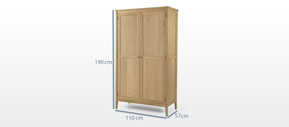 Kassay Oak Full Hanging Double Wardrobe