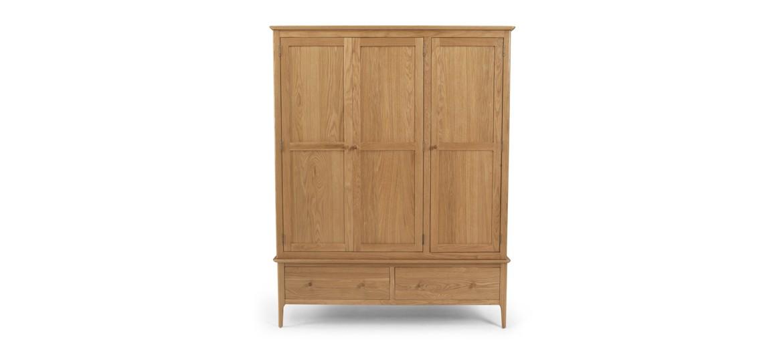 Kassay Oak Triple Wardrobe