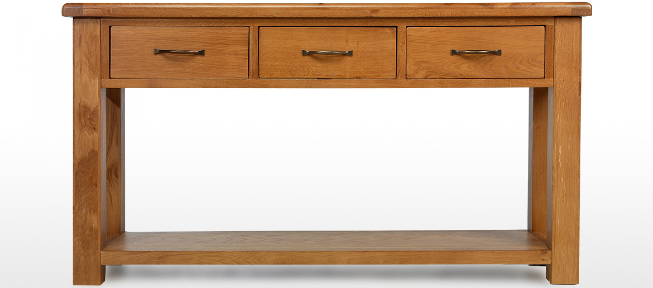 Barham oak large console table quercus living for Sofa table large