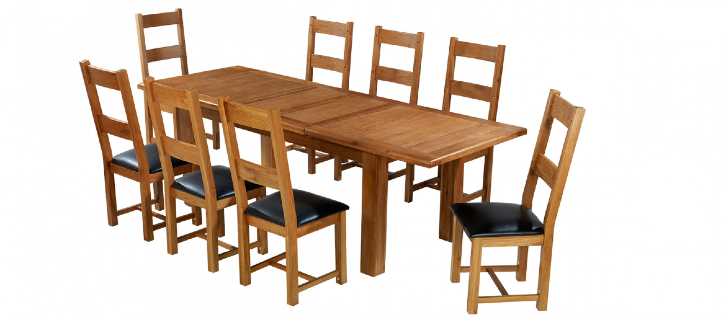 Barham oak 180 250 cm extending dining table and 8 chairs for 8 chair dining table