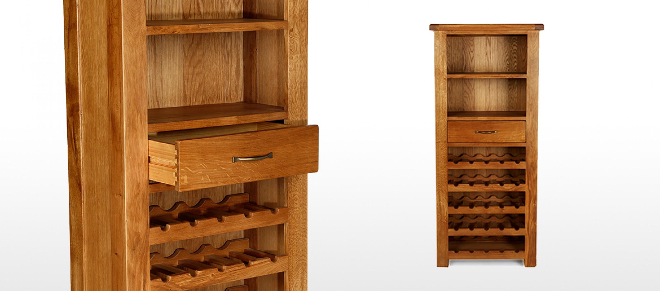Barham Oak Tall Wine Rack Unit | Quercus Living