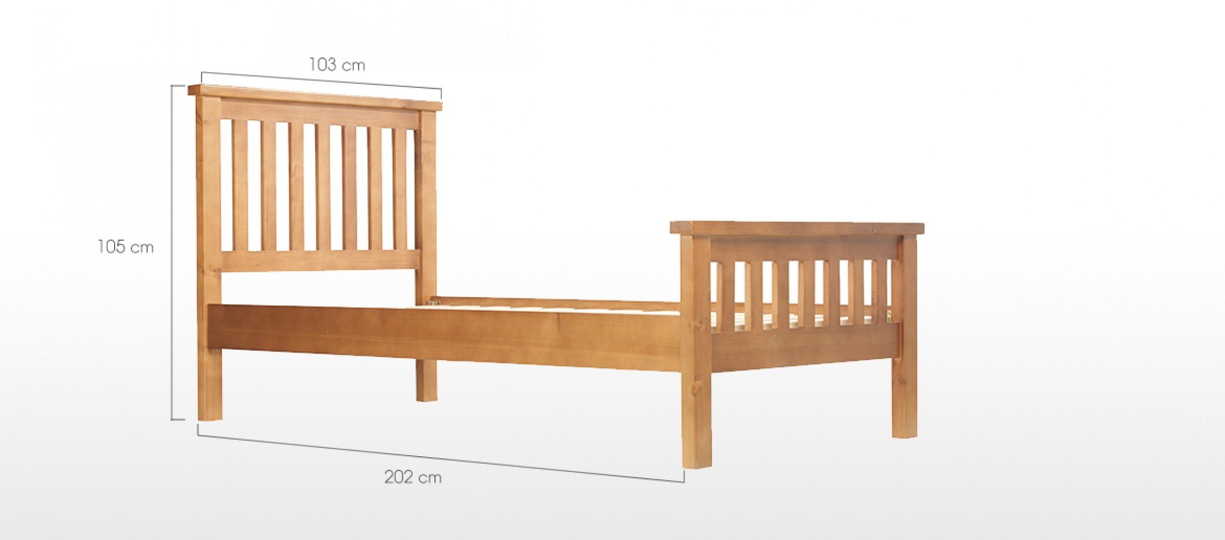 devon pine single bed 3 39 quercus living. Black Bedroom Furniture Sets. Home Design Ideas