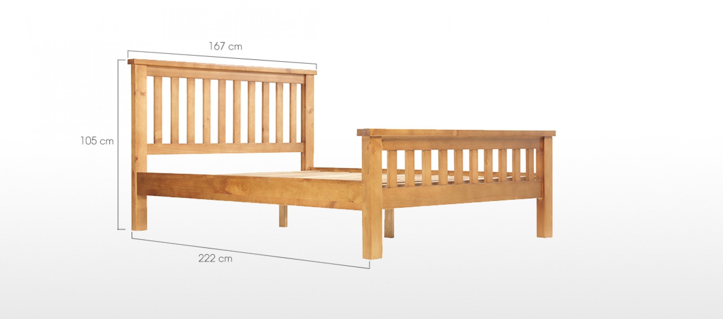 Devon pine king size bed 5 39 quercus living for King size bunk bed