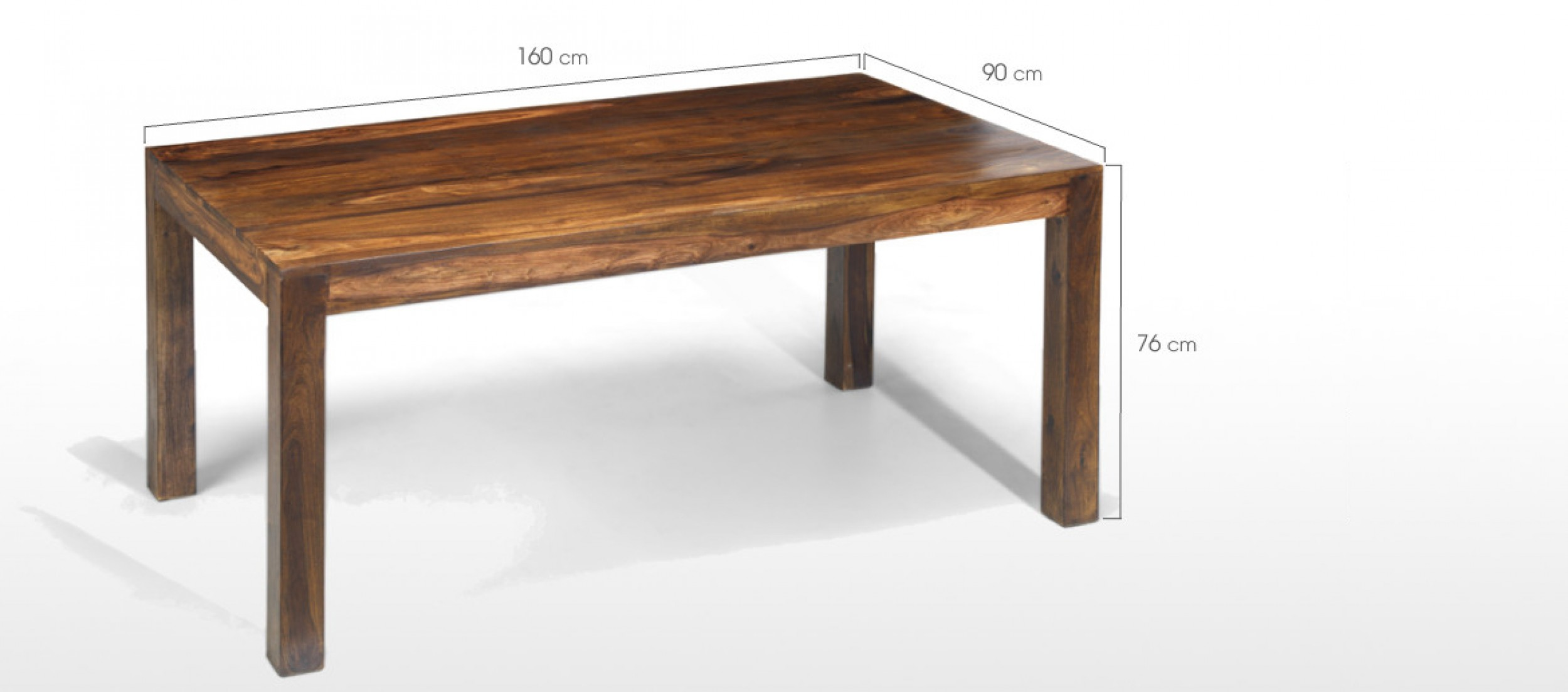 Cube sheesham 160 cm dining table and 4 chairs quercus for Sheesham dining table