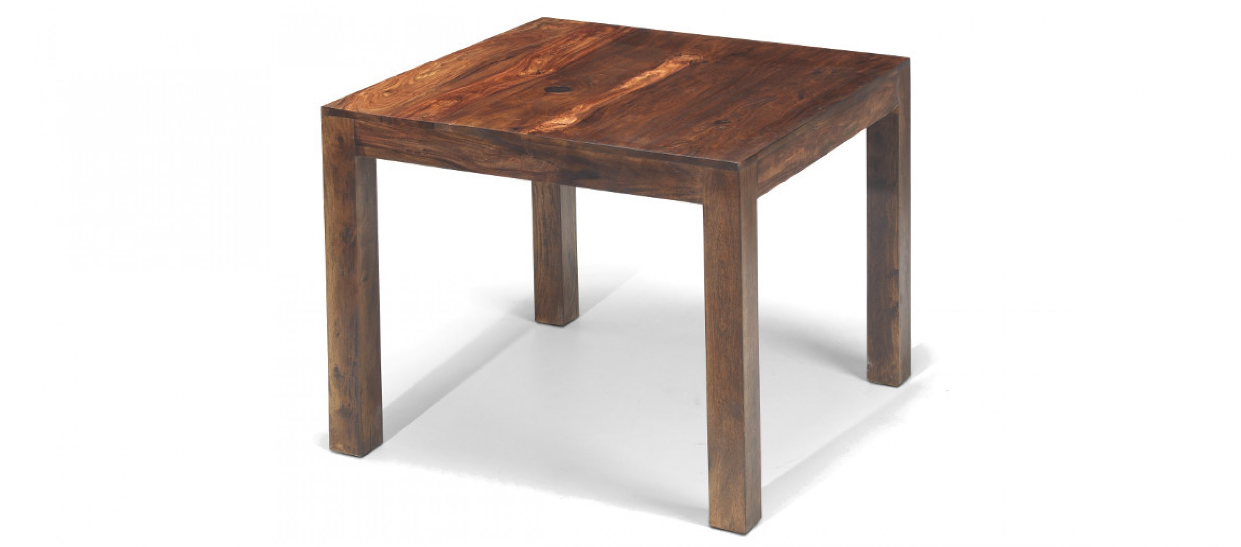 Cube sheesham 90 cm dining table quercus living for Table design 90 cm