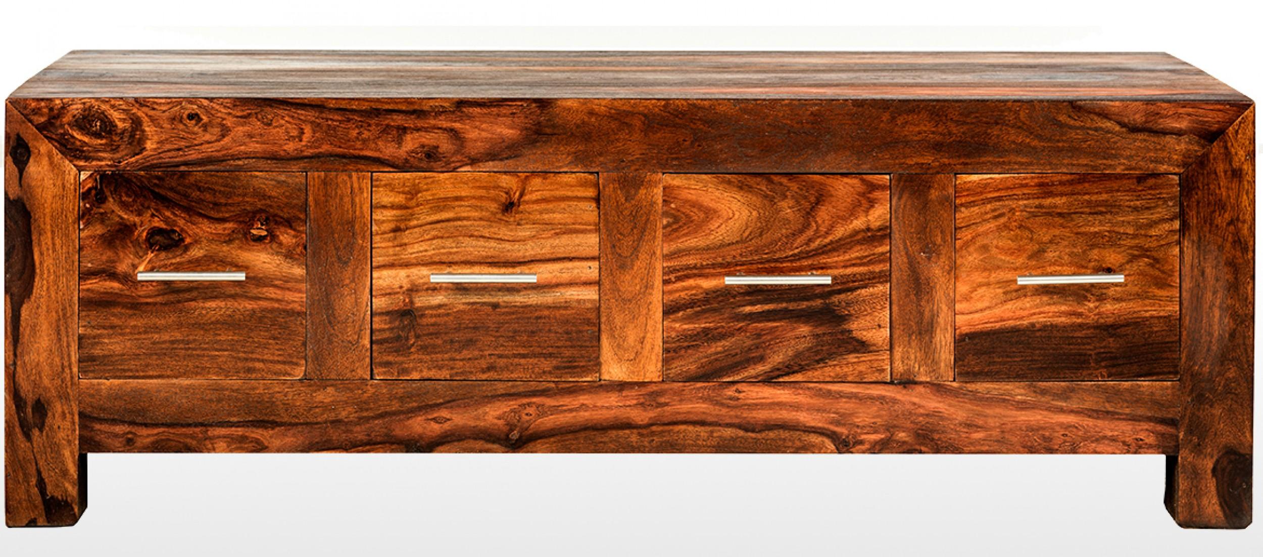 cube sheesham 8 drawer coffee trunk | quercus living