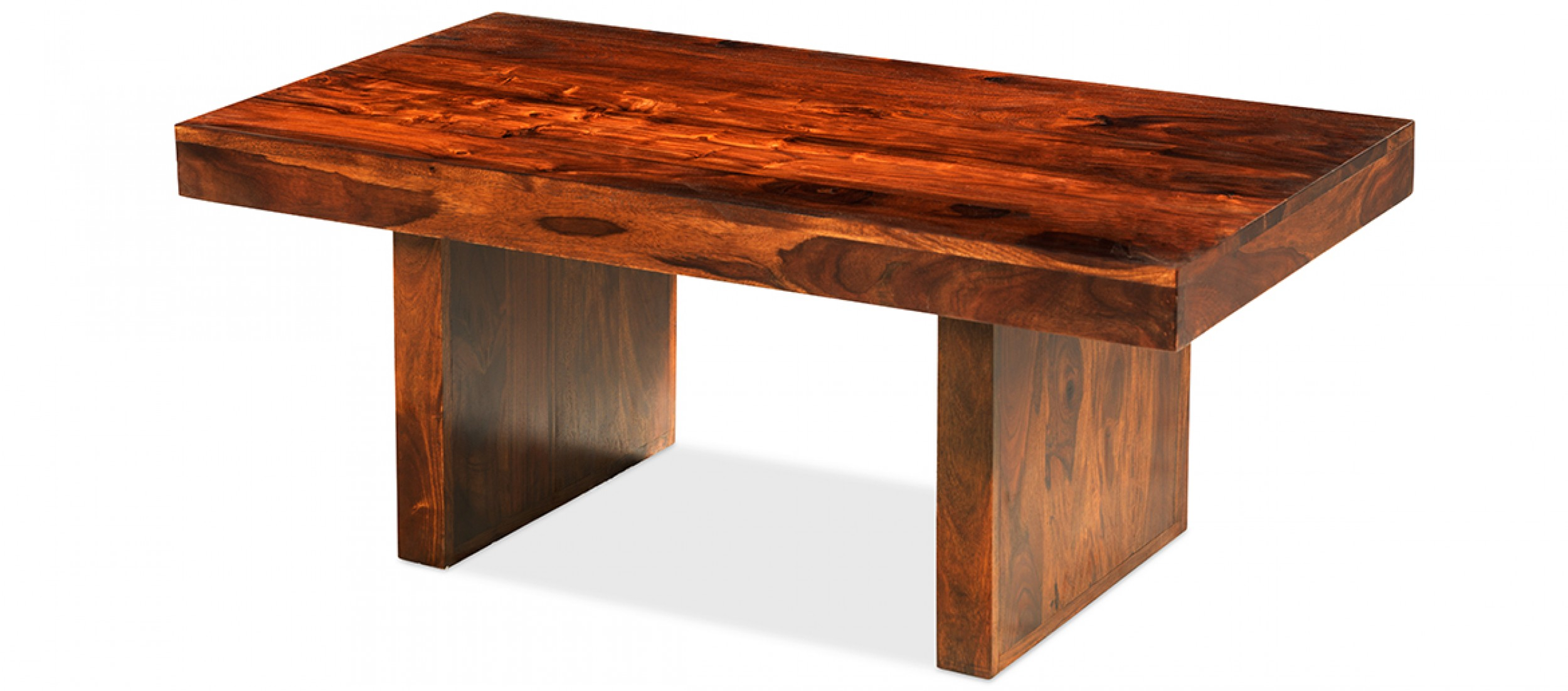 Cube Sheesham Block Coffee Table Quercus Living