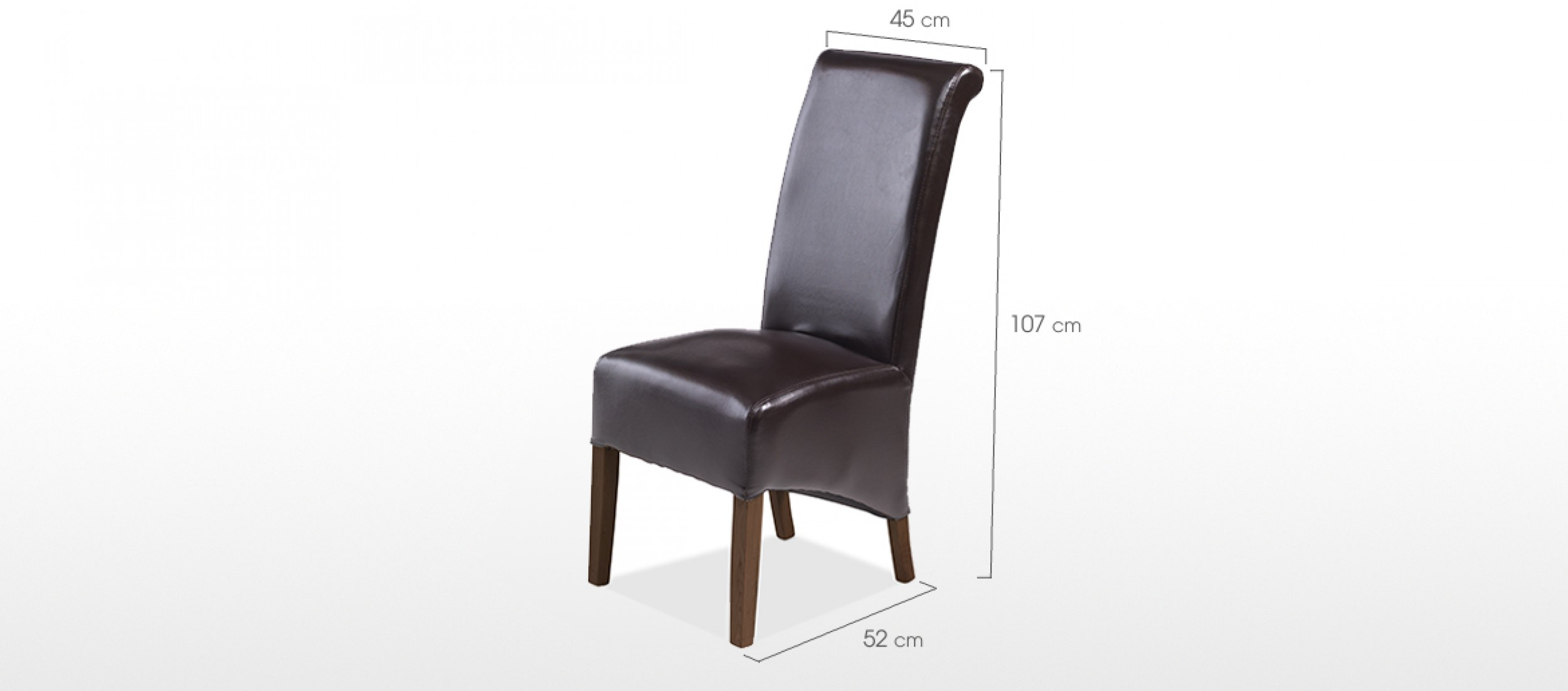 Cube Bonded Leather Dining Chairs Brown   Pair