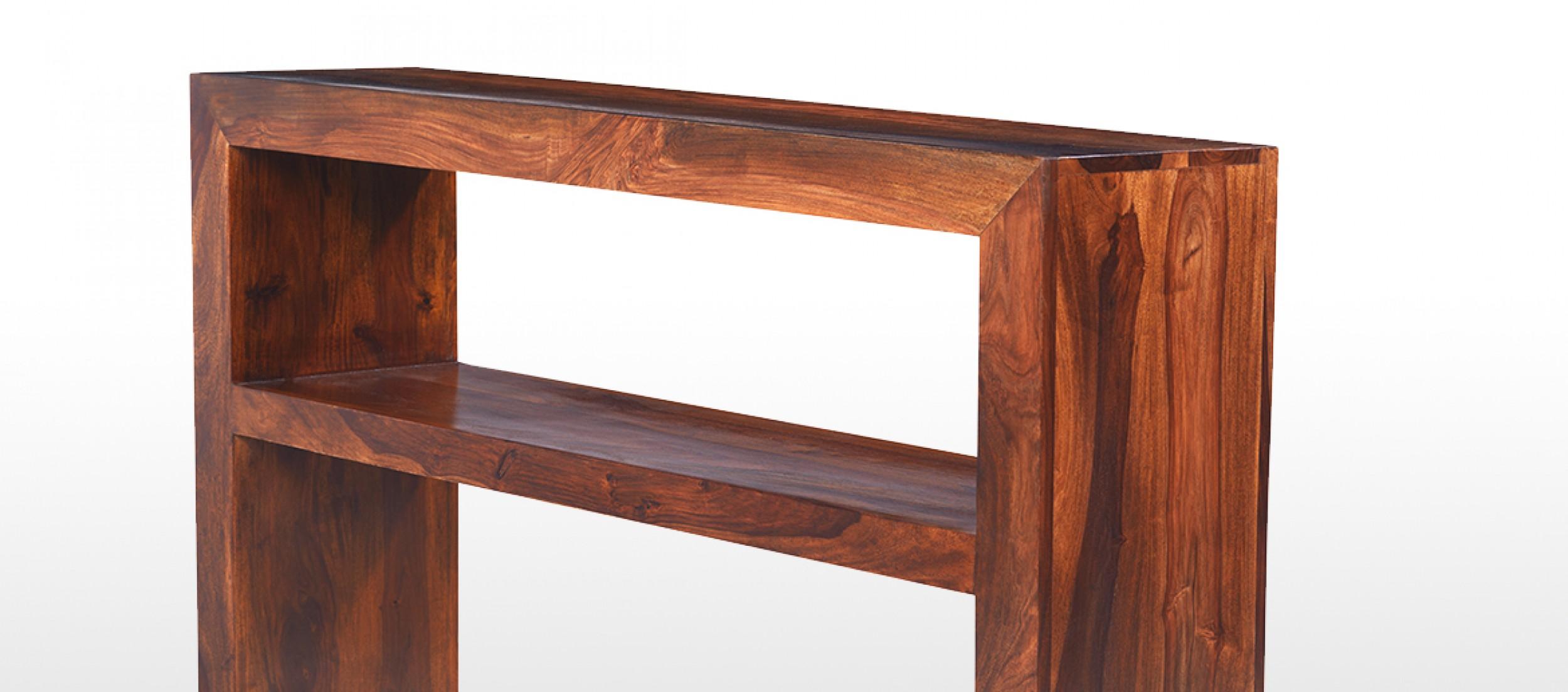 Cube sheesham console table quercus living cube sheesham console table geotapseo Image collections