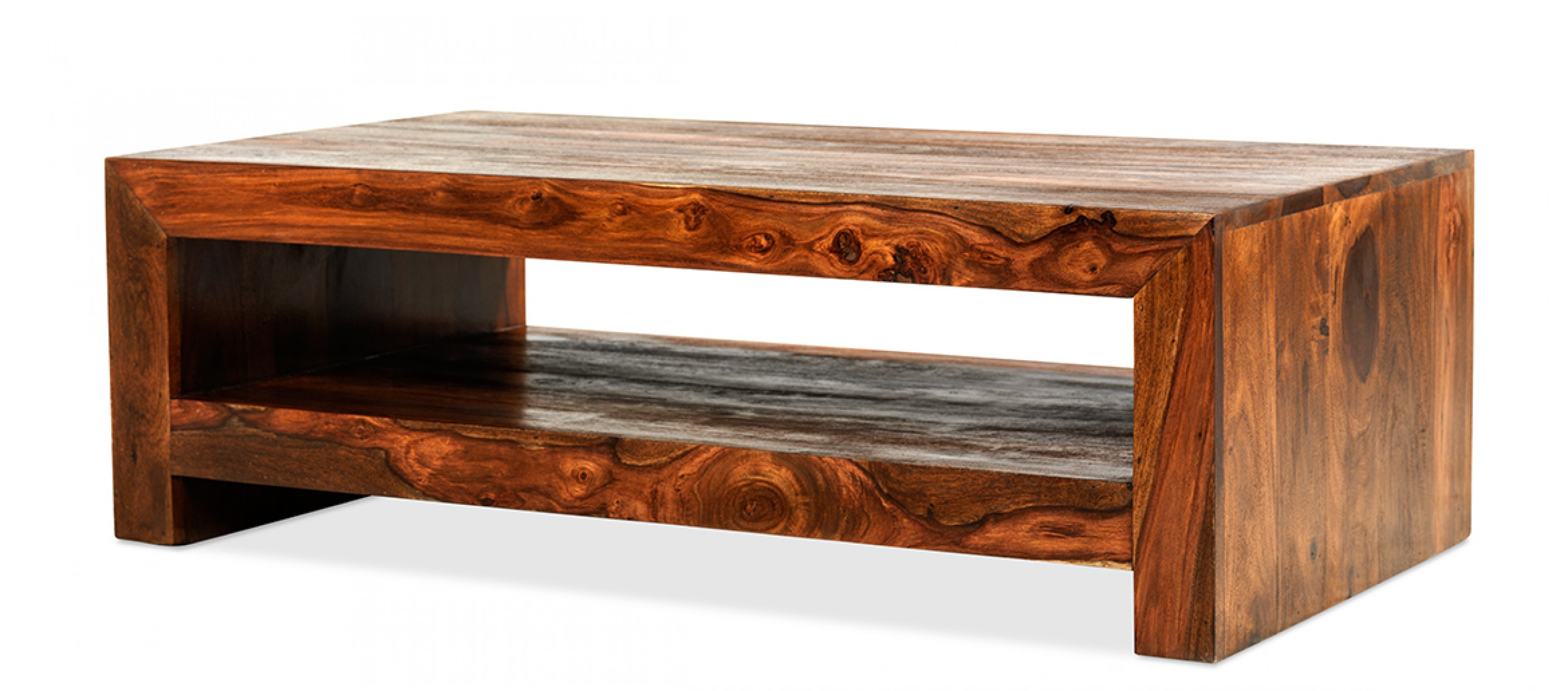 Cube Sheesham Contemporary Coffee Table Quercus Living