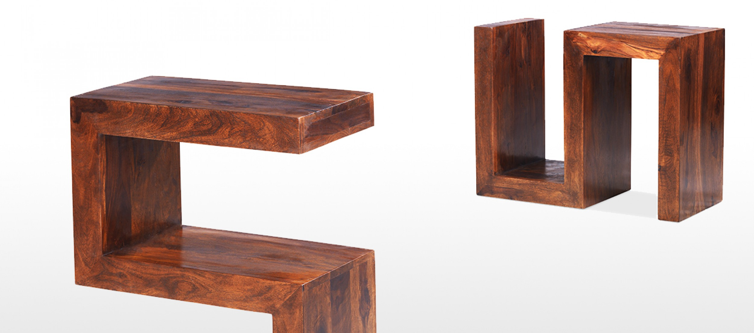 Exceptional Cube Sheesham Side Table