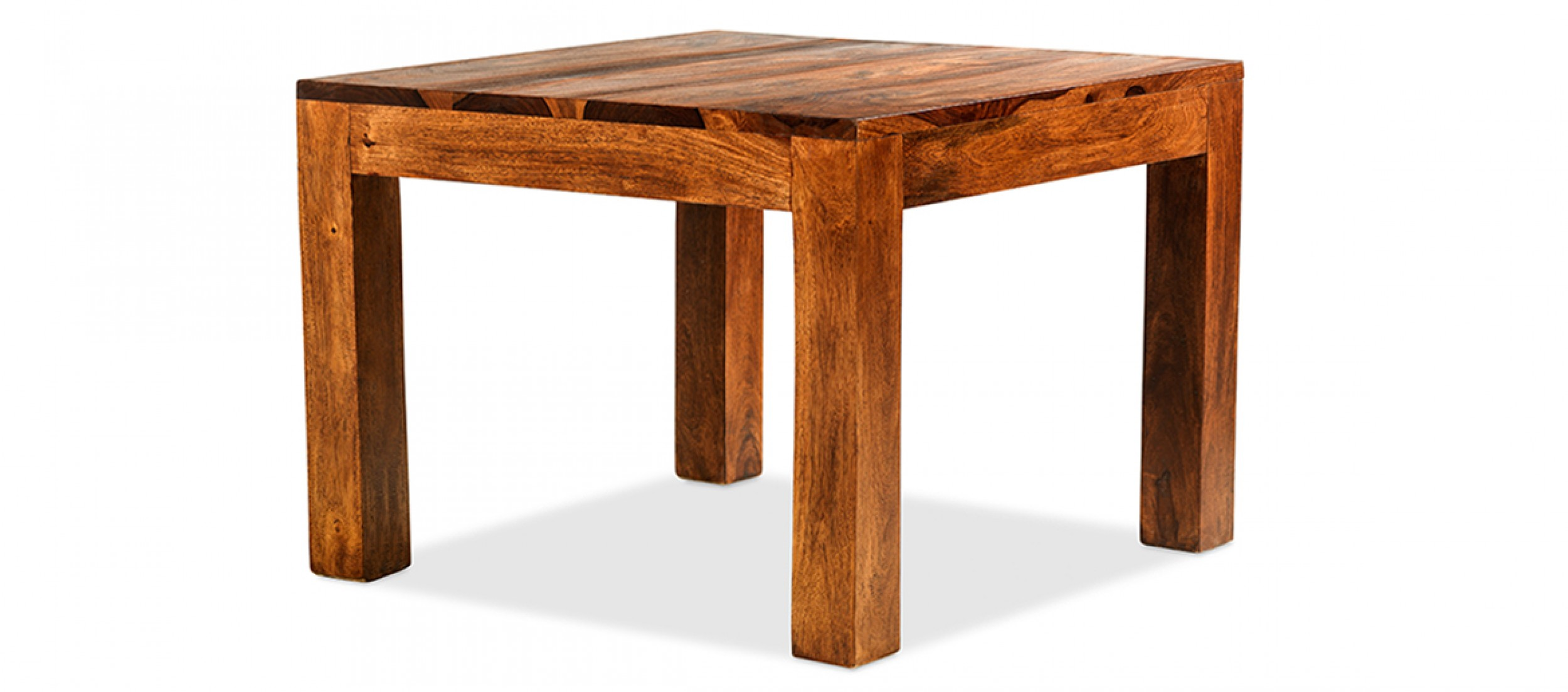 Cube sheesham 60 cm coffee table quercus living - Table largeur 60 cm ...