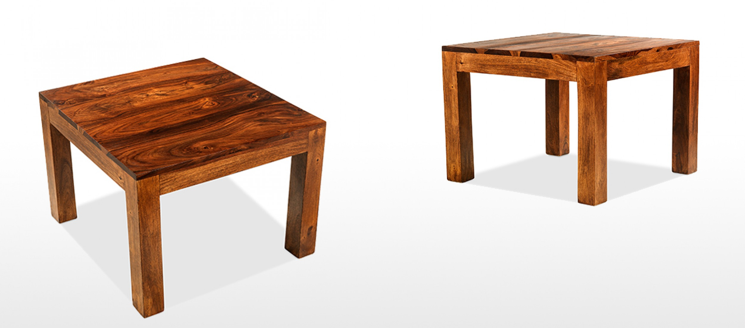Cube sheesham 60 cm coffee table quercus living - Table largeur 60 cm ...