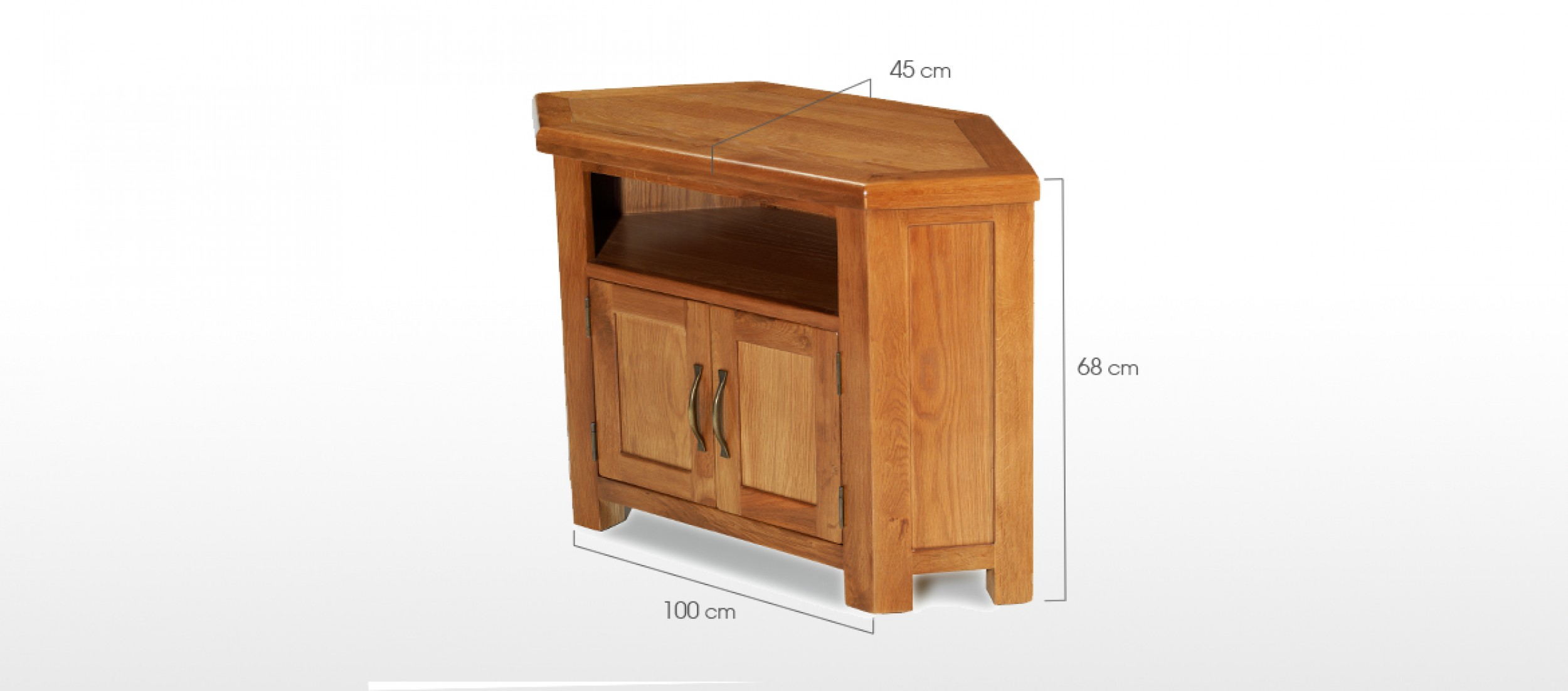 barham oak petite corner tv unit quercus living. Black Bedroom Furniture Sets. Home Design Ideas