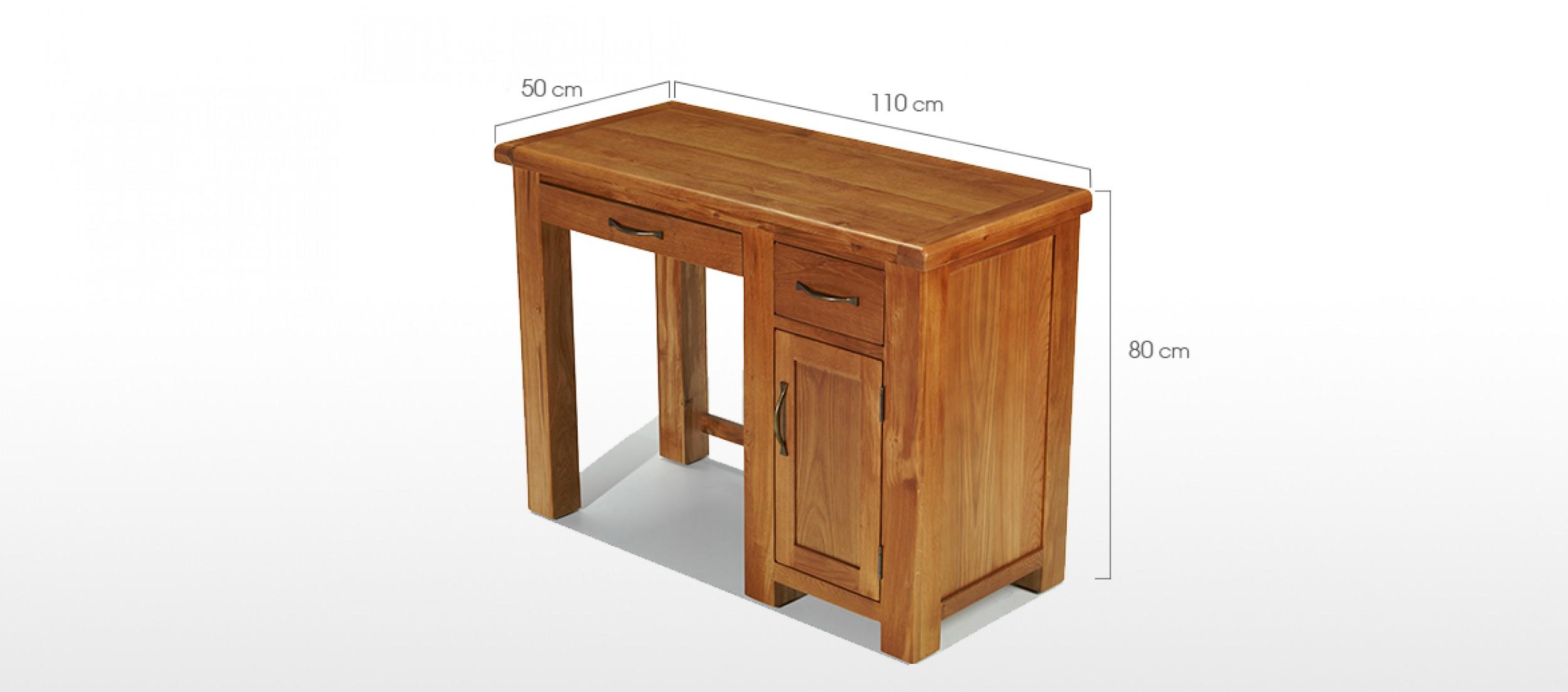 Barham Oak Single Pedestal Computer Desk Quercus Living