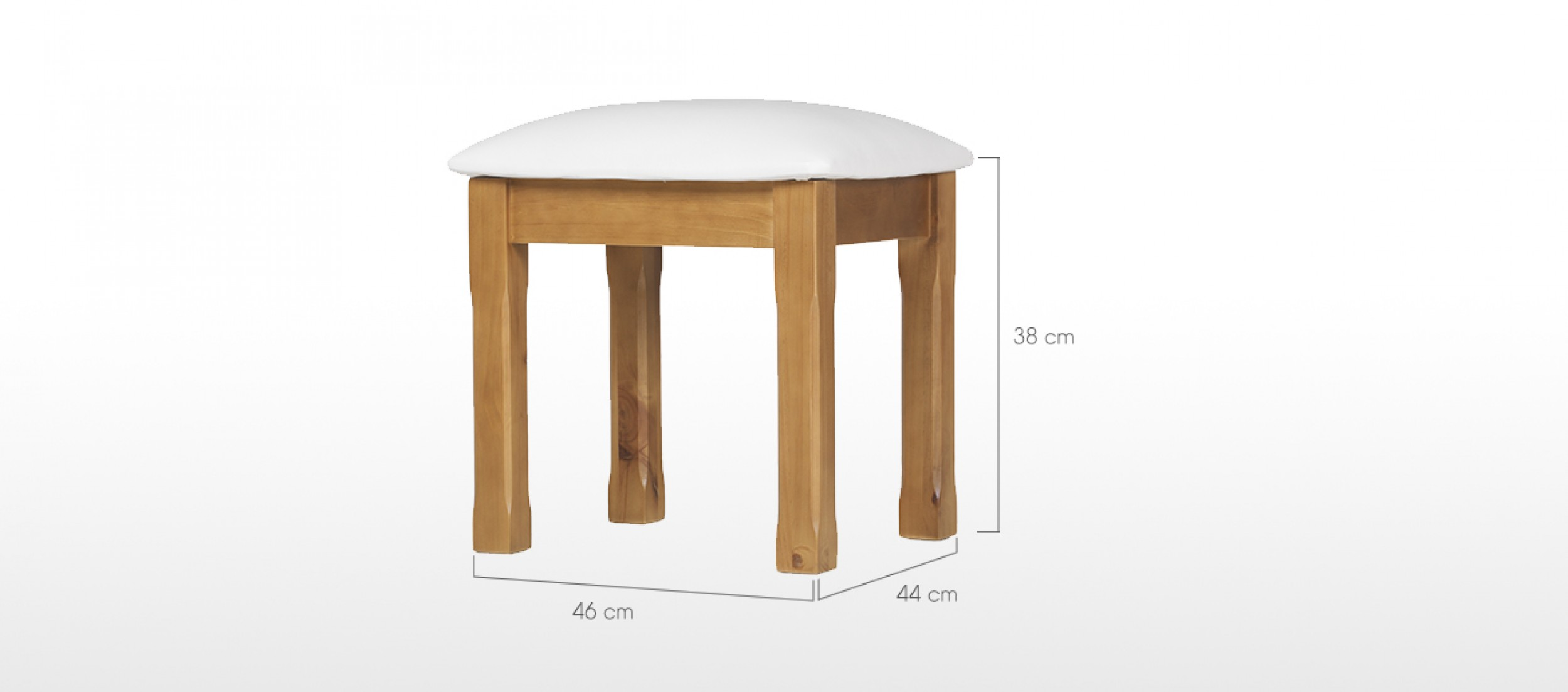 Essentials pine dressing table stool quercus living Dressing tables and stools