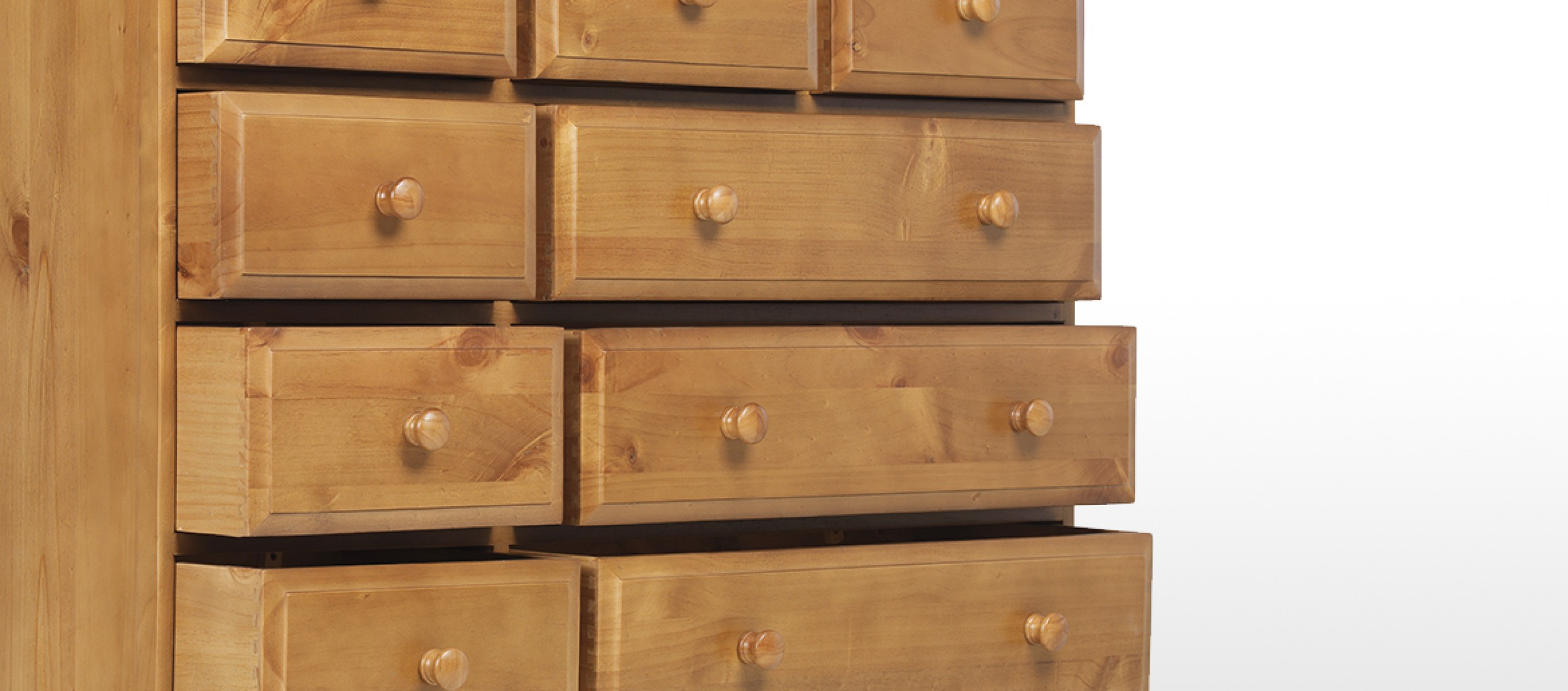 Essentials pine drawer chest of drawers quercus living