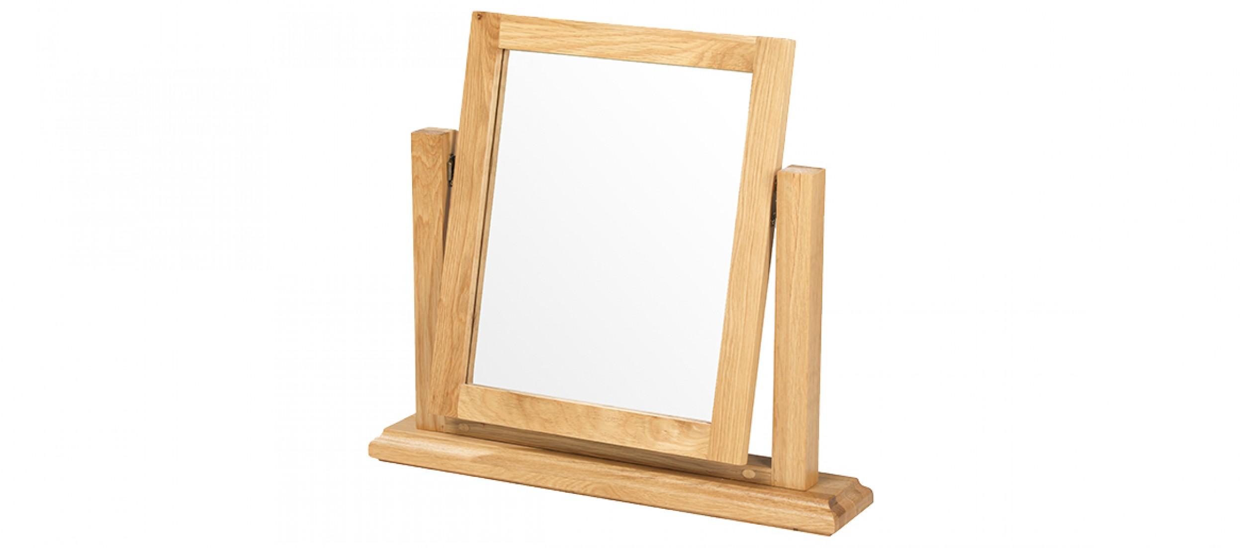 Constance oak dressing table vanity mirror quercus living for Vanity dressing table with mirror