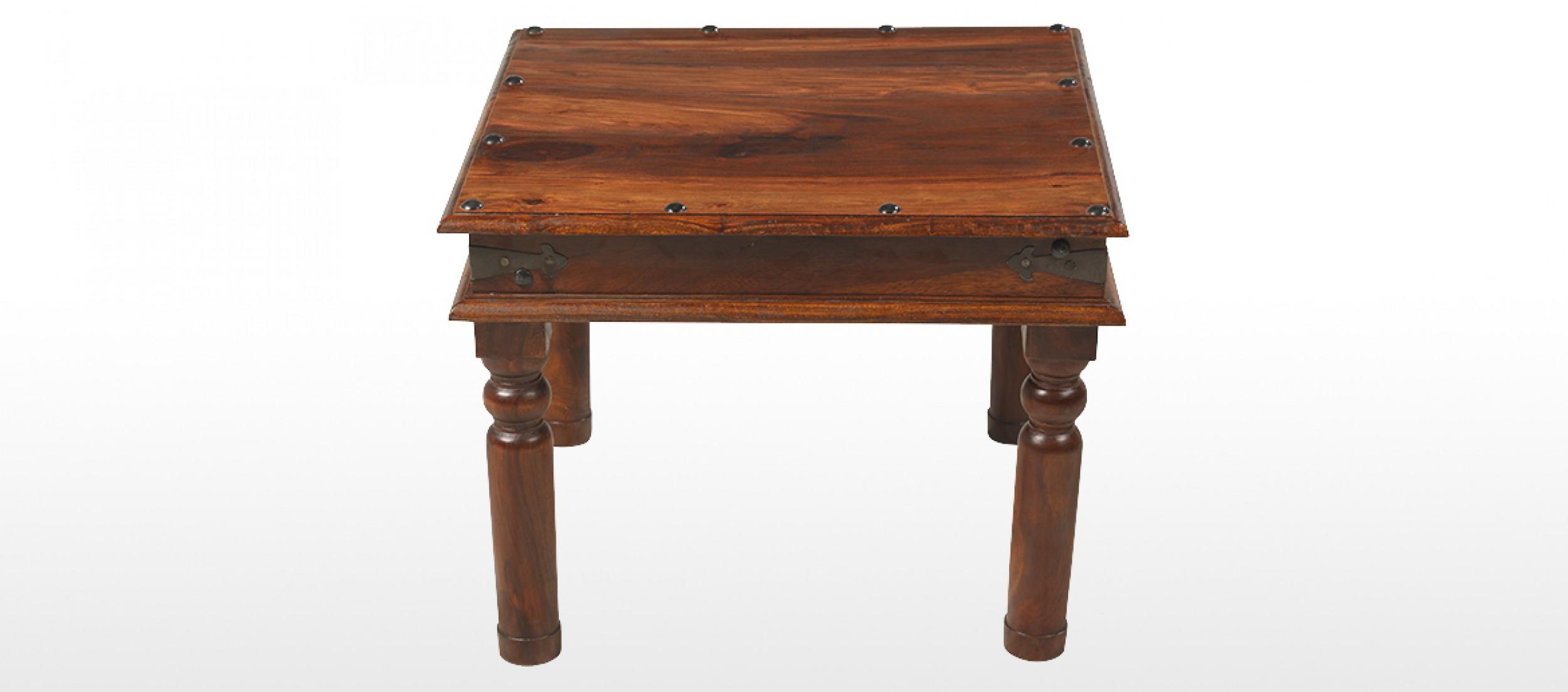 Jali sheesham 60 cm thakat coffee table quercus living - Table largeur 60 cm ...