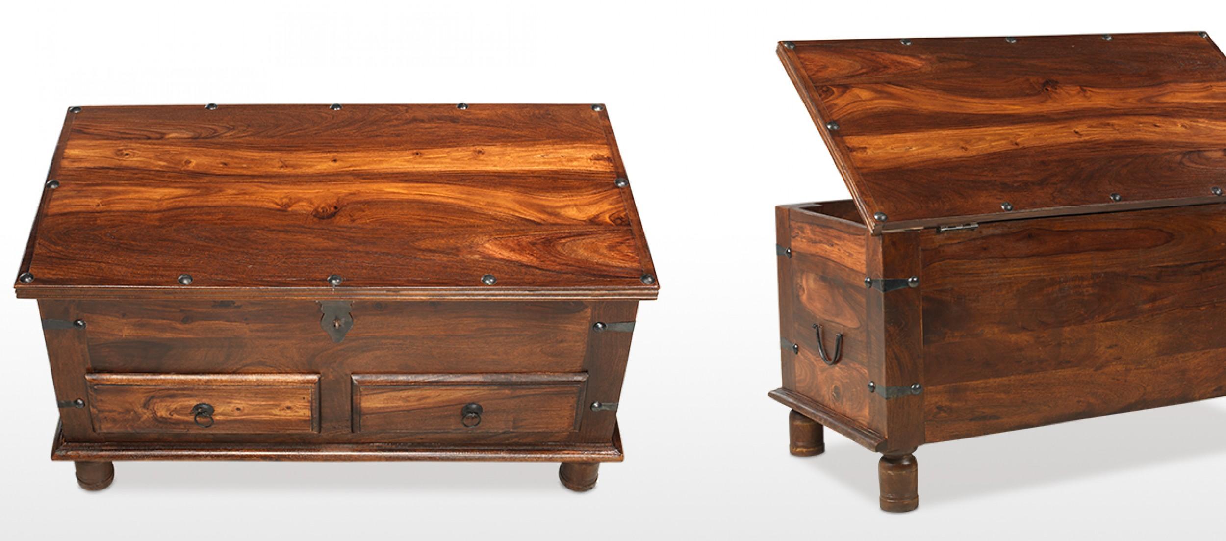 Jali Sheesham Thakat Coffee Trunk Box Drawers Quercus Living