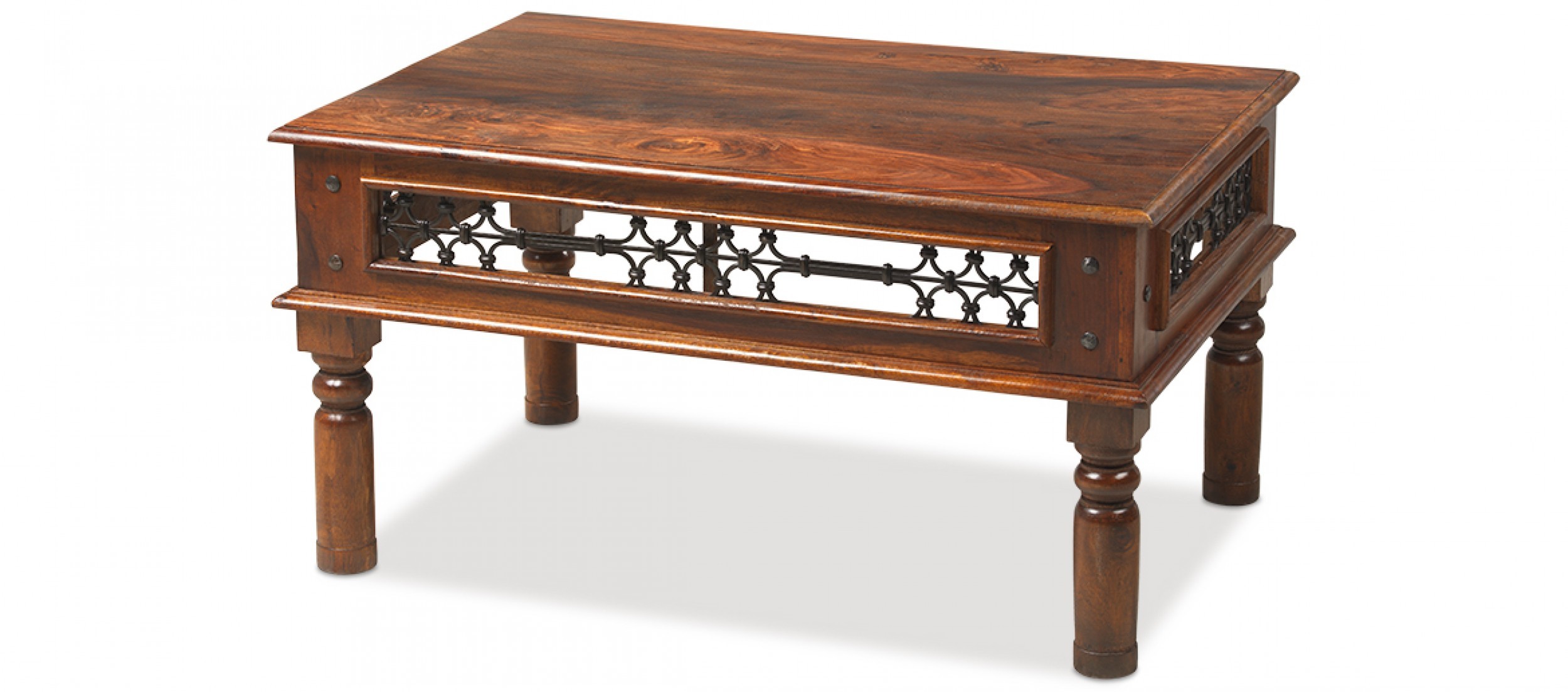 Jali Sheesham 90 Cm Coffee Table Quercus Living