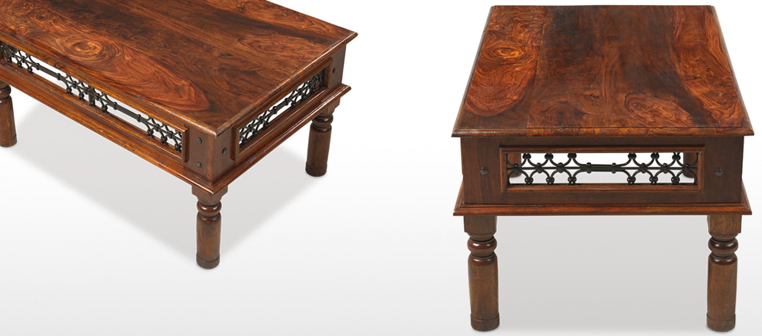 Jali sheesham 110 cm coffee table quercus living jali sheesham 110 cm coffee table geotapseo Image collections