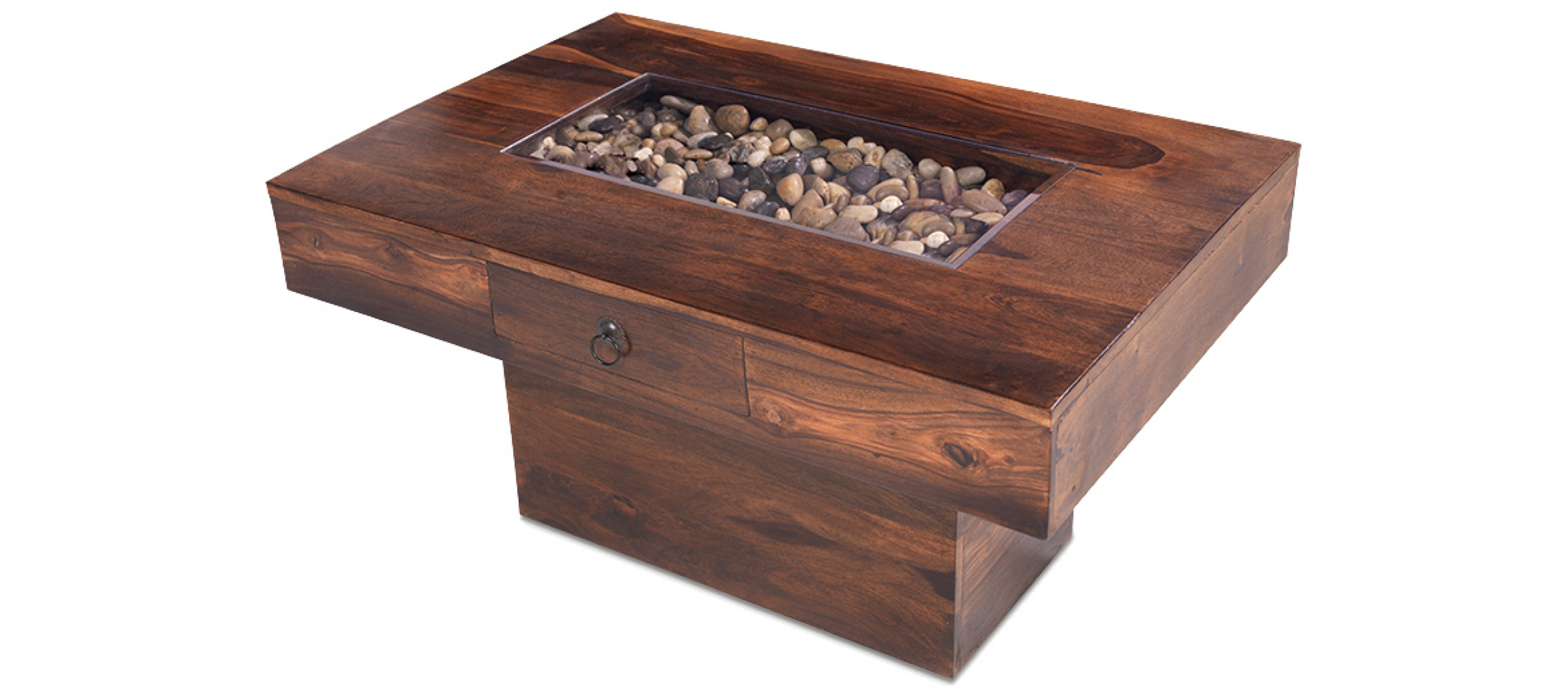 Jali Sheesham Pebble Coffee Table