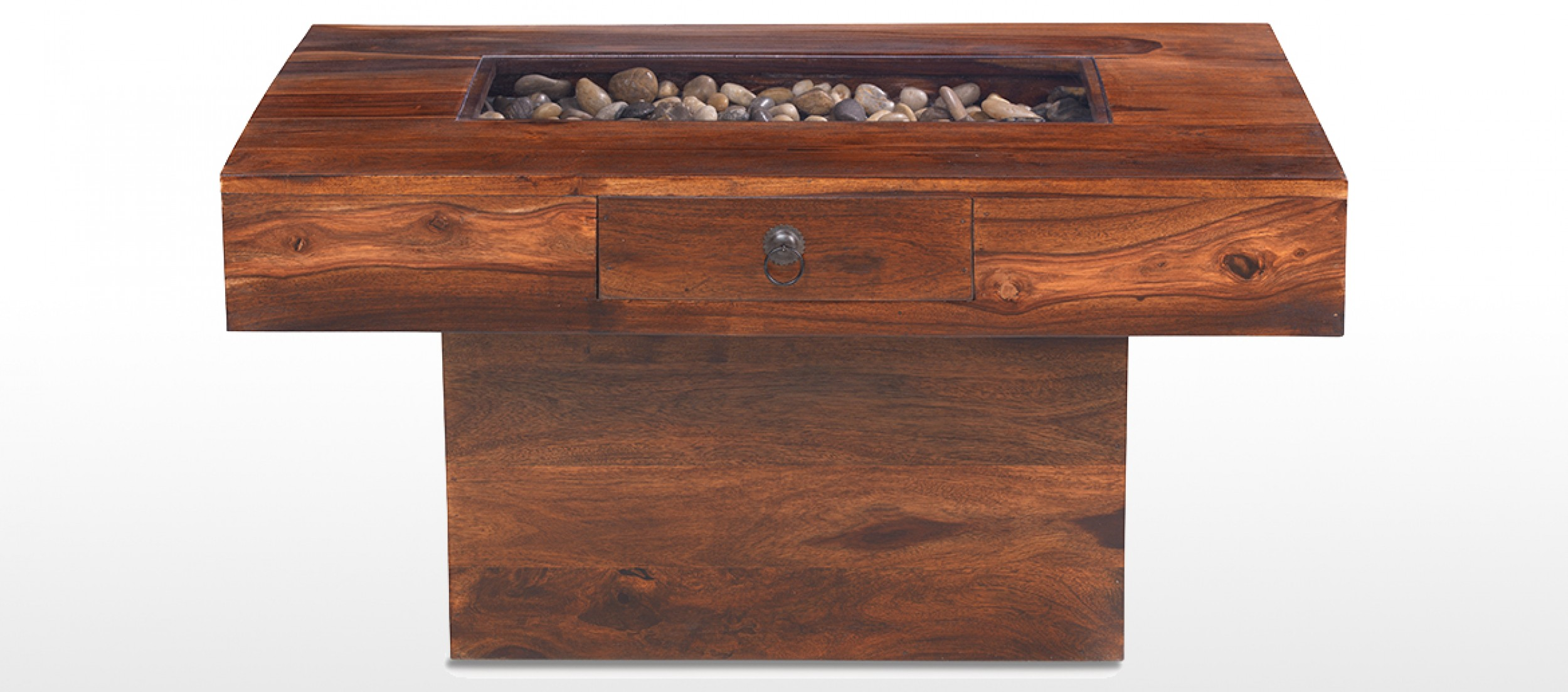 jali sheesham large pebble coffee table | quercus living