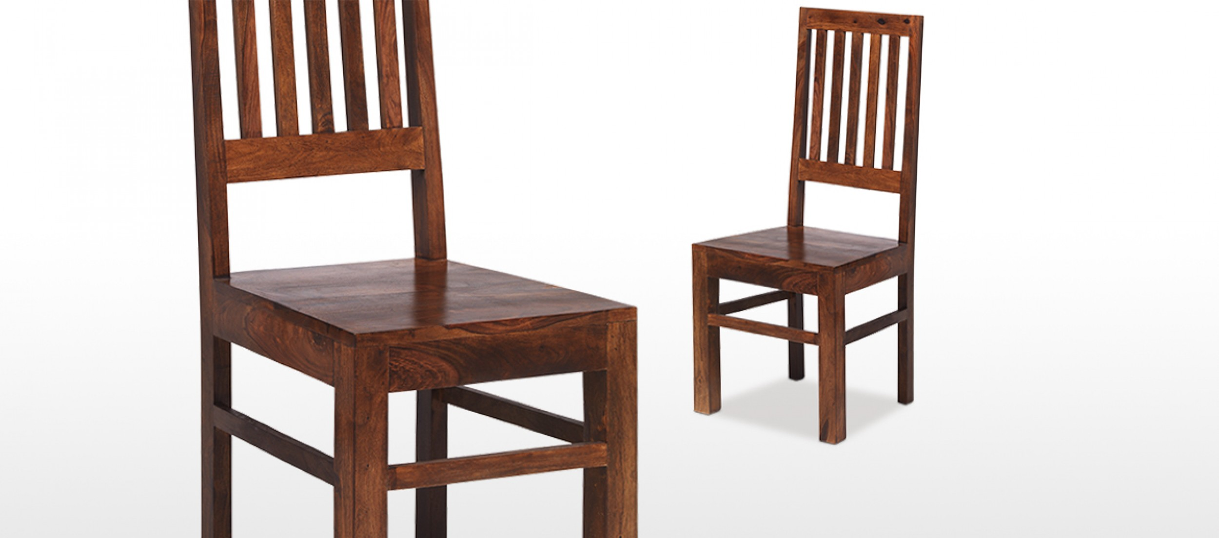 Jali Sheesham High Back Slat Dining Chairs