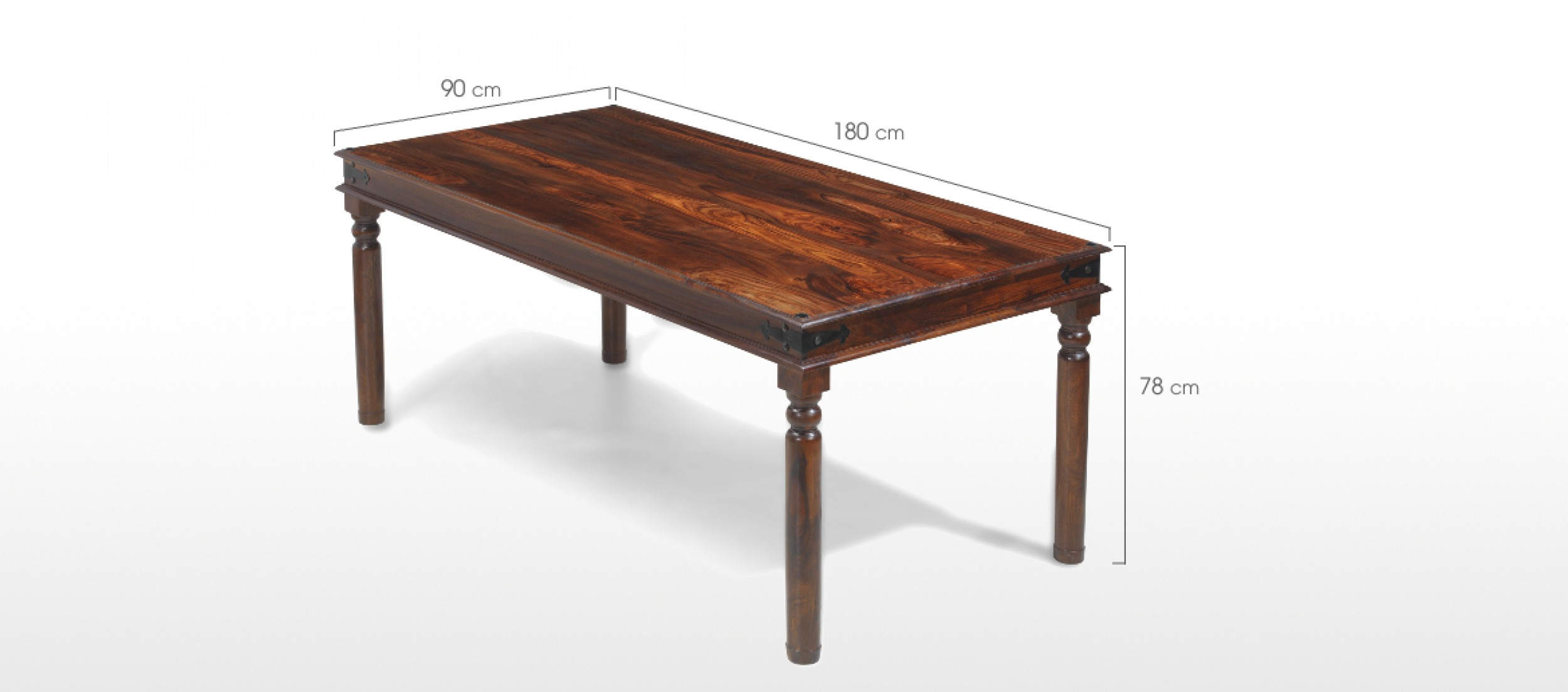 Jali sheesham 180 cm thakat dining table and 6 chairs for Sheesham dining table