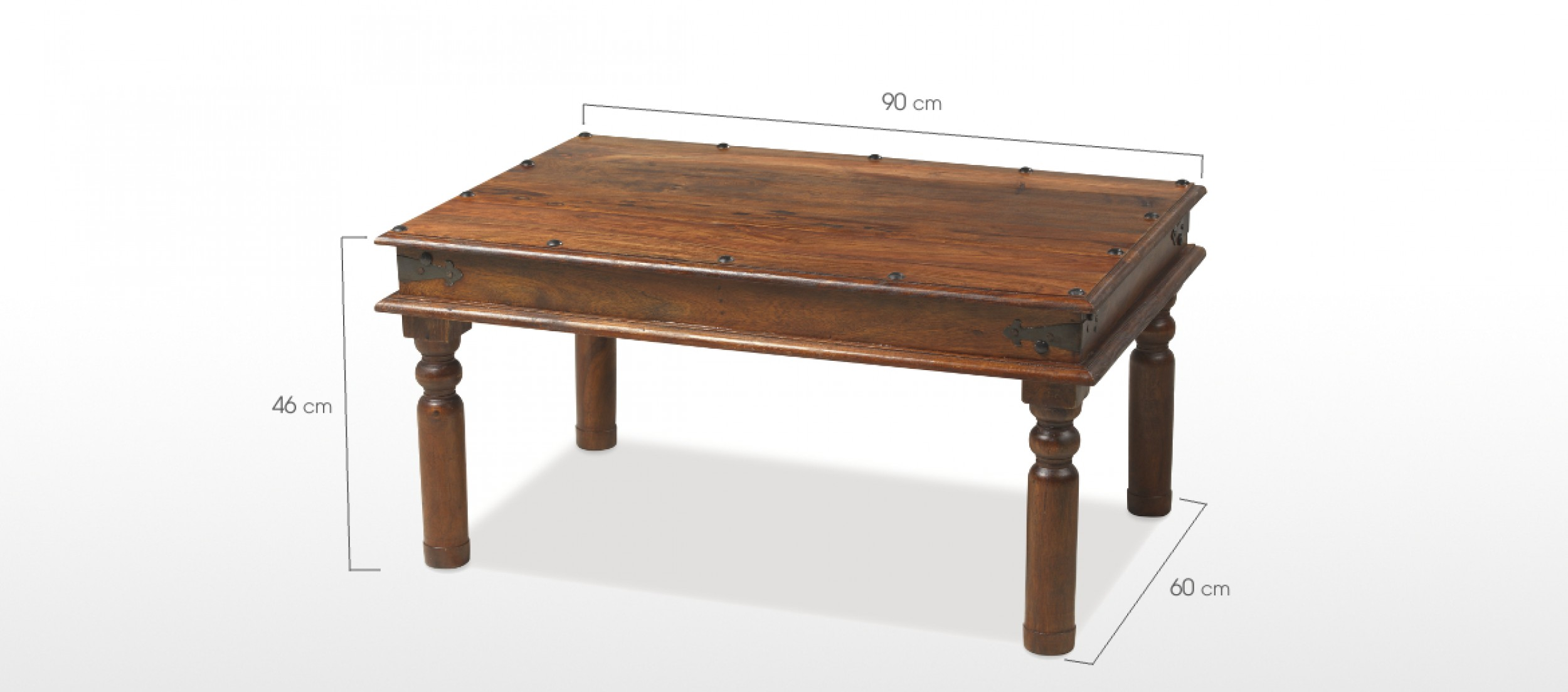 Jali Sheesham 90 Cm Thakat Coffee Table Quercus Living