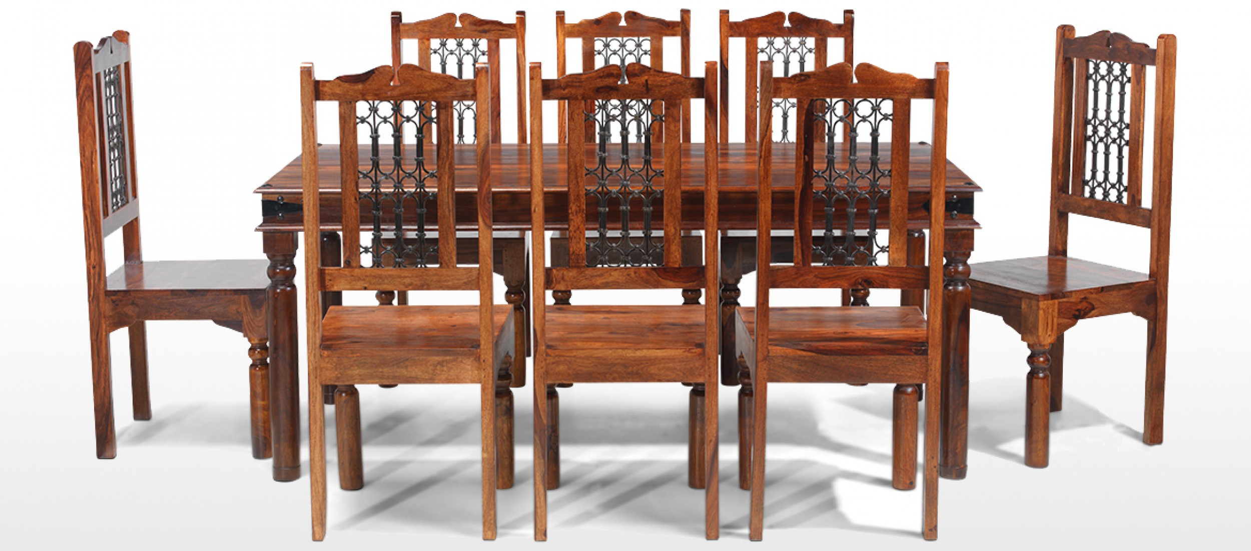 jali sheesham 180 cm thakat dining table and 8 chairs quercus living jali sheesham 180 cm thakat dining table and 8 chairs
