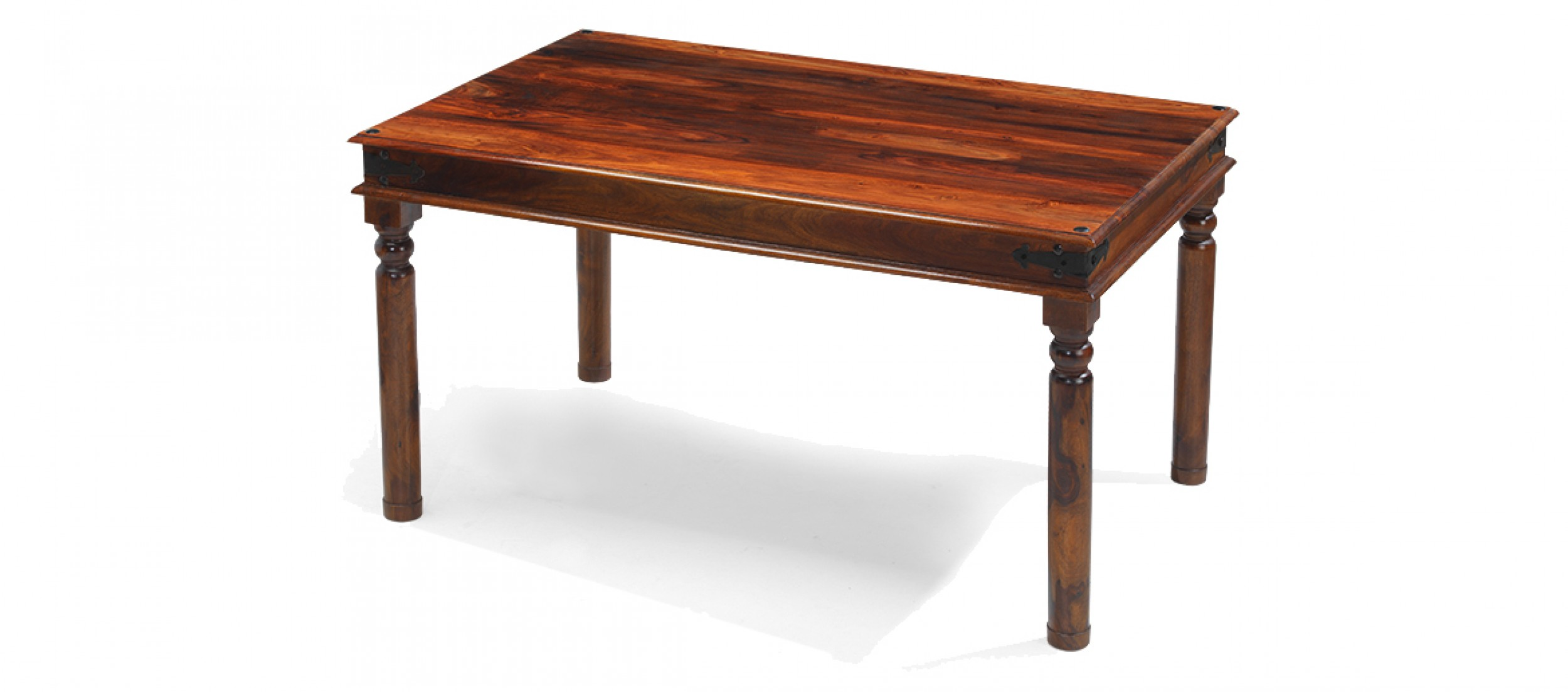 Jali sheesham 120 cm thakat dining table quercus living for Sheesham dining table