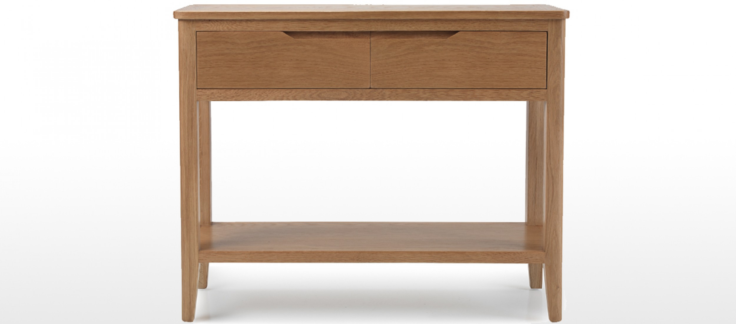 Eklund Oak Console Table Quercus Living. Full resolution  photo, nominally Width 2500 Height 1103 pixels, photo with #472C1E.