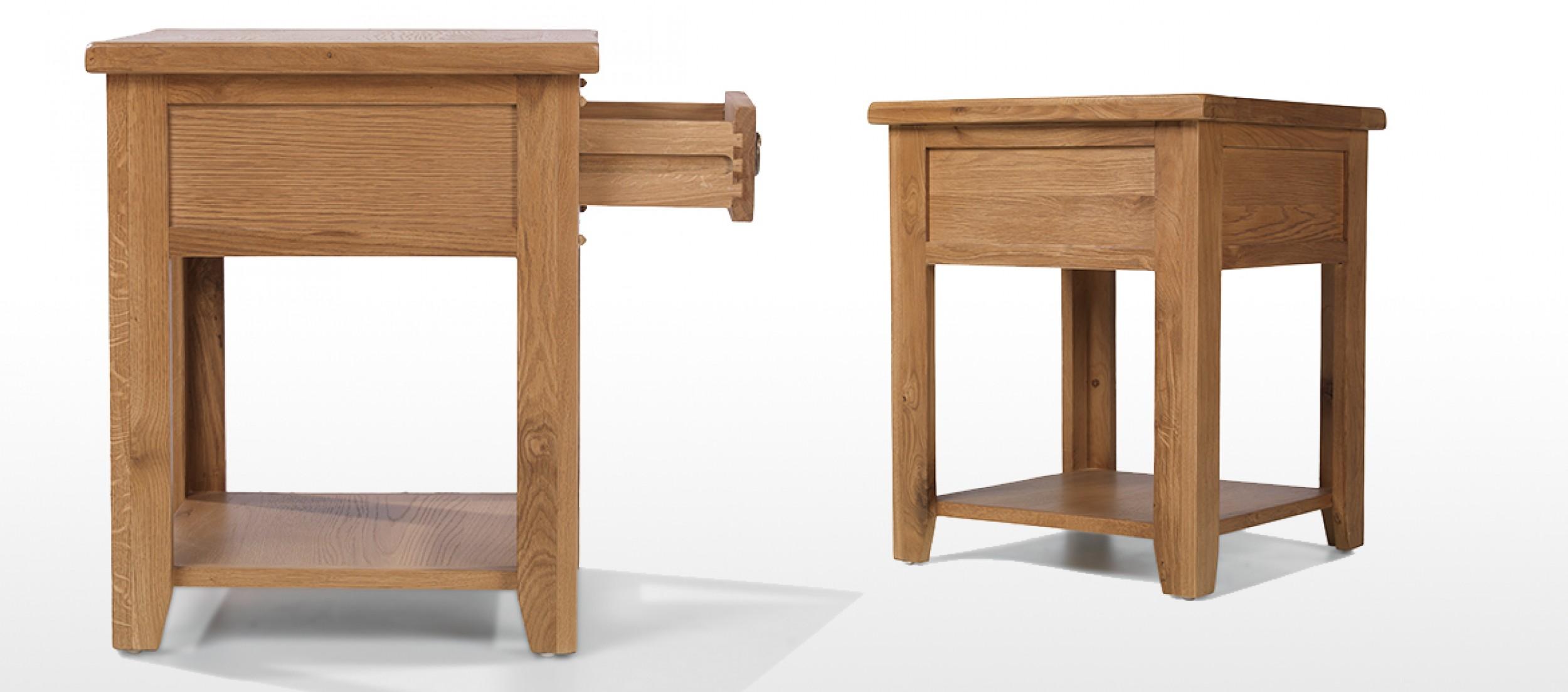Rustic oak lamp table quercus living rustic oak lamp table aloadofball Image collections
