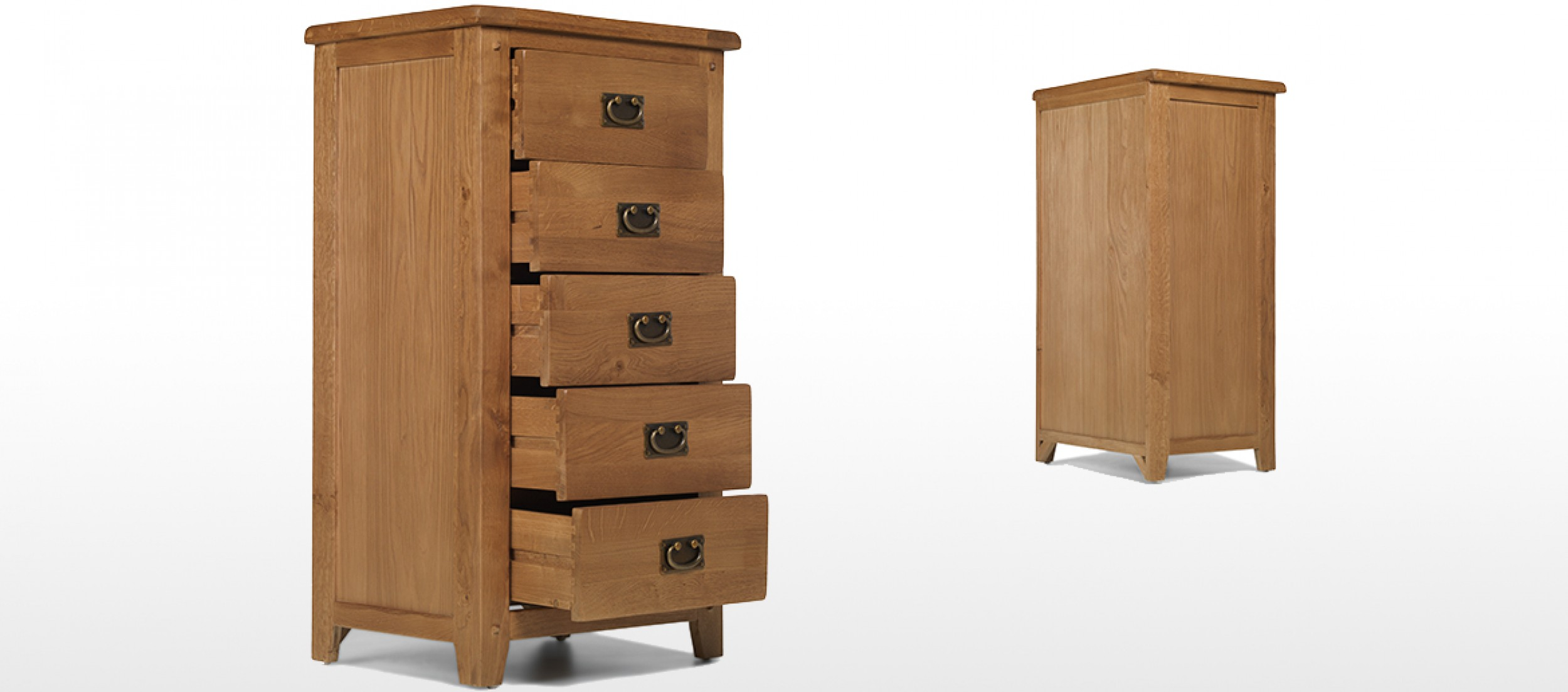rustic oak 5 drawer tall chest of drawers quercus living. Black Bedroom Furniture Sets. Home Design Ideas