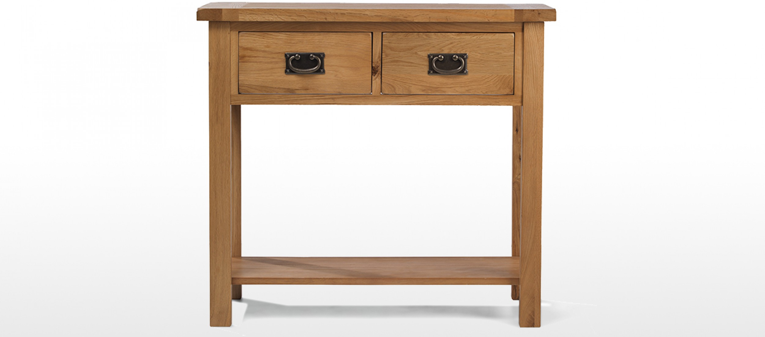 Rustic Oak Console Table Quercus Living