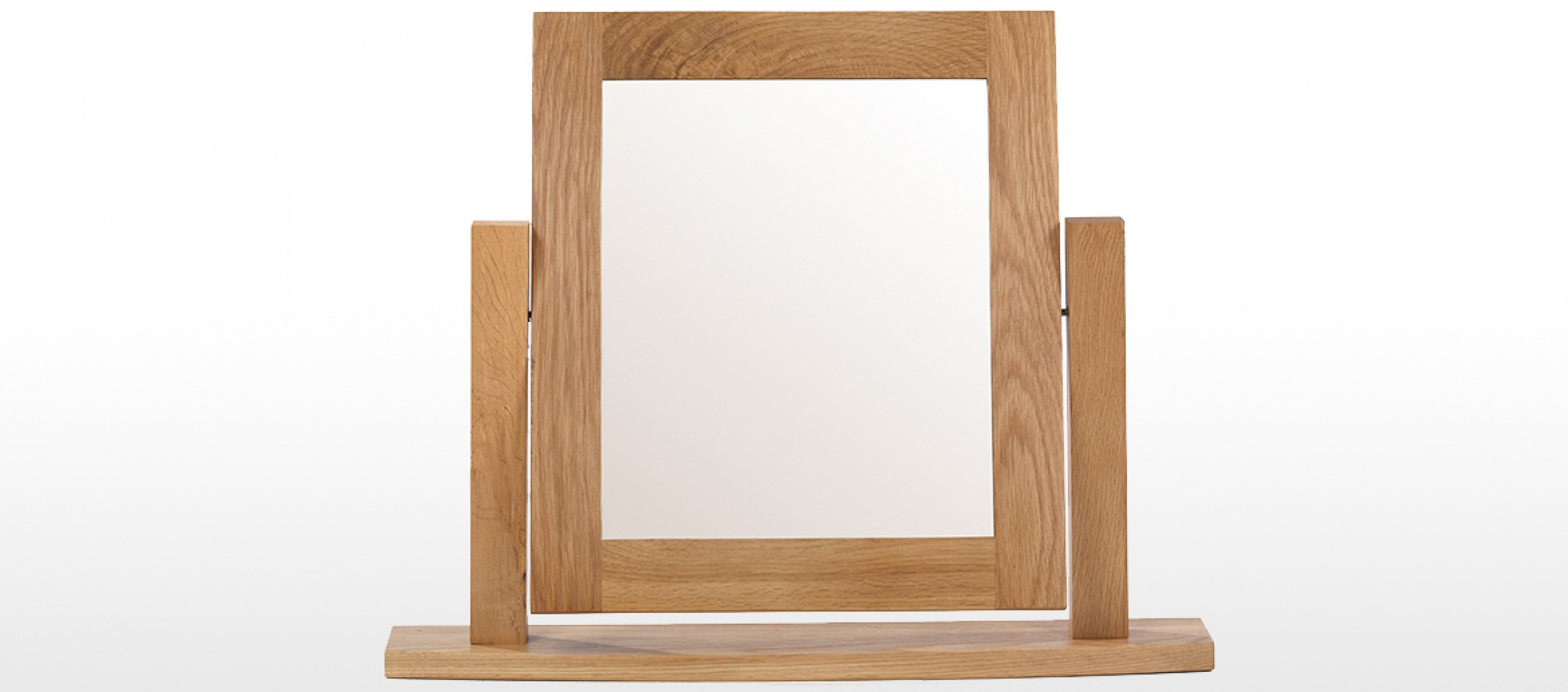Rustic oak dressing table vanity mirror quercus living for Rustic mirror
