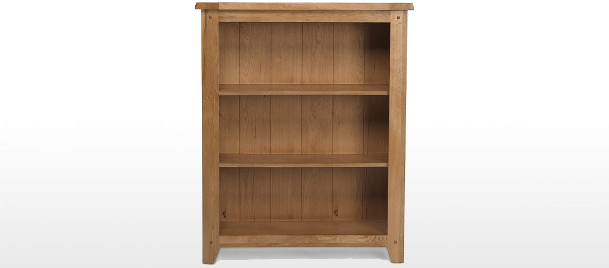 Rustic Oak Low Bookcase Quercus Living