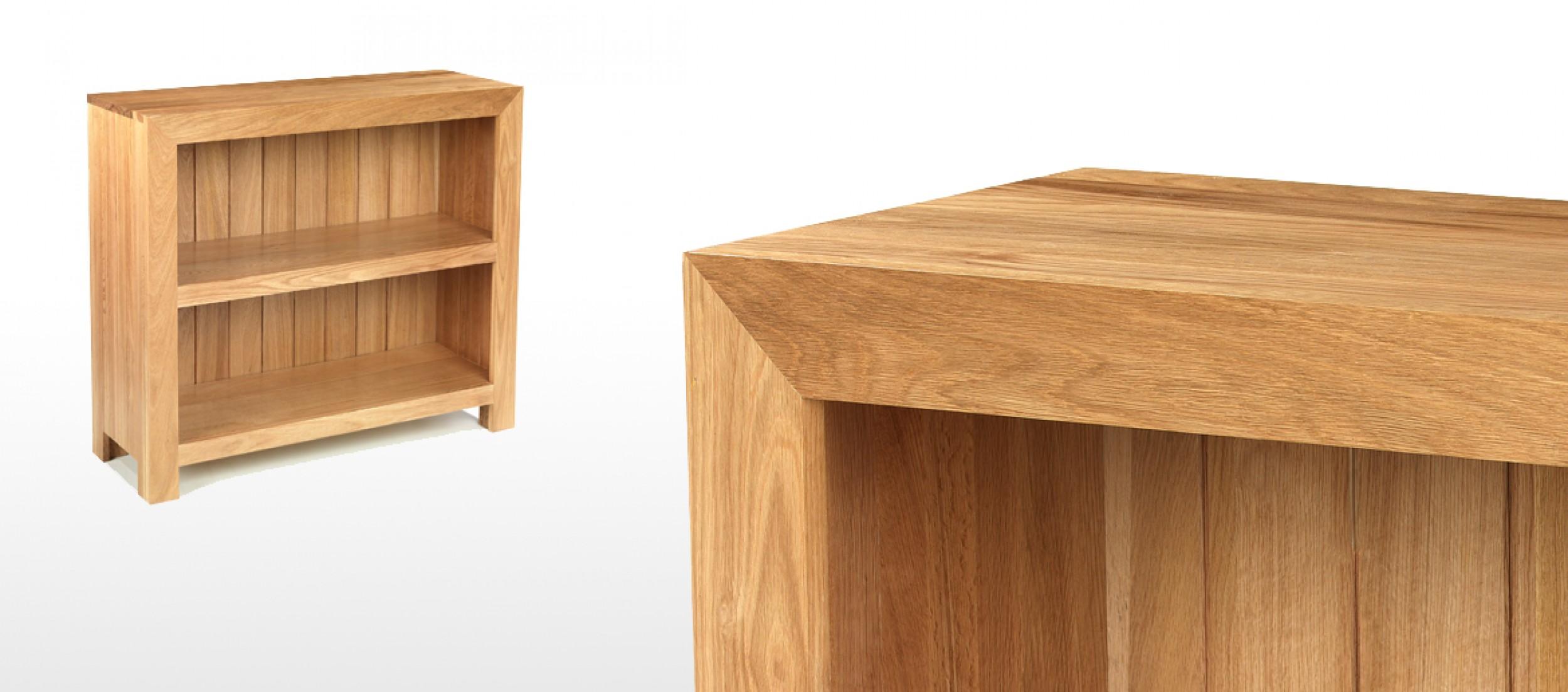 Cube Oak Low Bookcase Quercus Living