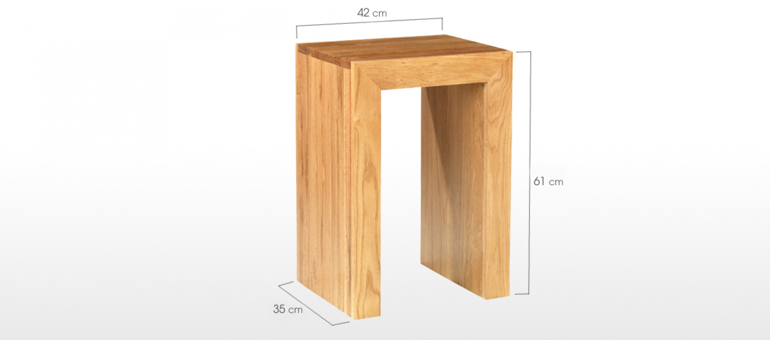 Cube oak lamp table quercus living cube oak lamp table geotapseo Image collections