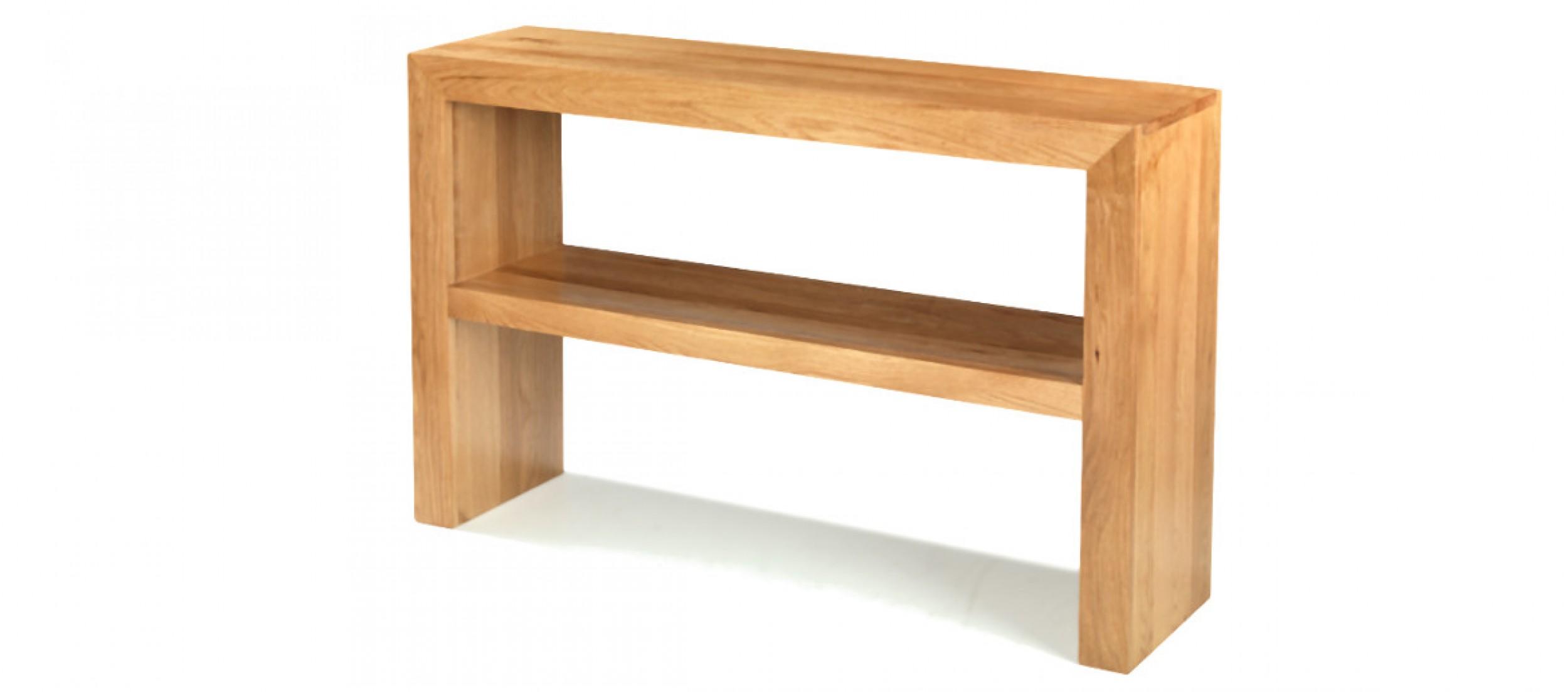 Attirant Cube Oak Console Table